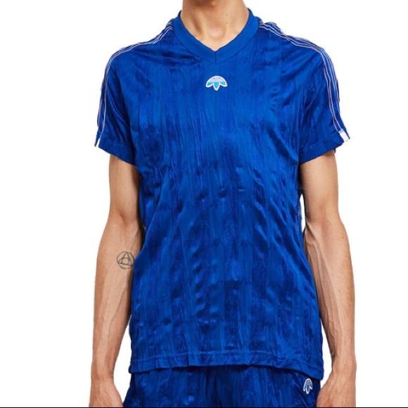 Adidas Alexander Wang Blue Soccer Jersey Medium